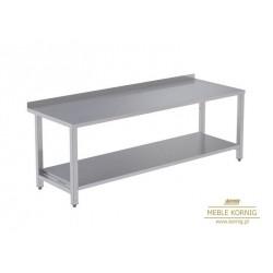 Stół prosty z 1-półką 1586 mm