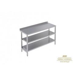 Stół prosty z 2-półkami  886 mm