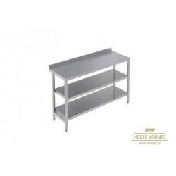 Stół prosty z 2-półkami  586 mm