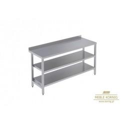 Stół prosty z 2-półkami  986 mm