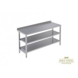 Stół prosty z 2-półkami 1086 mm