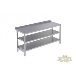 Stół prosty z 2-półkami 1186 mm