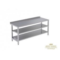 Stół prosty z 2-półkami 1286 mm