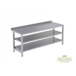 Stół prosty z 2-półkami 1386 mm