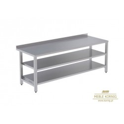 Stół prosty z 2-półkami 1486 mm