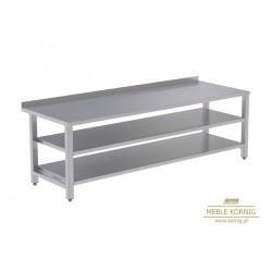 Stół prosty z 2-półkami 1686 mm