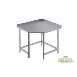 Stół nierdzewny narożny bez półki