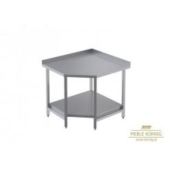 Stół narożny z 1-półką  944x944-mm