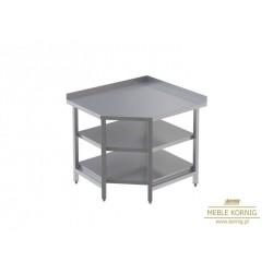 Stół narożny z 2-półkami  944x944-mm