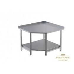 Stół narożny z 1-półką L  944x1044-mm