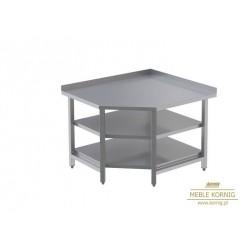 Stół narożny z 2-półkami L  944x1044-mm