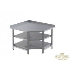 Stół narożny z 2-półkami P 1044x944-mm