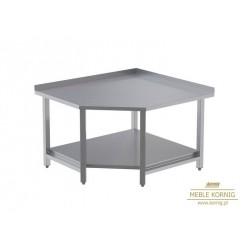 Stół narożny z 1-półką 1044x1044-mm