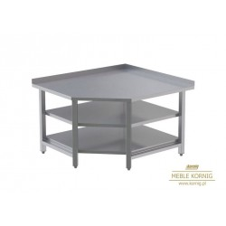 Stół narożny z 2-półkami 1044x1044-mm