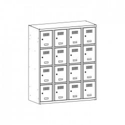 Szafka skrytkowa na książki MSUS 344S 120/145 (moduł 30)