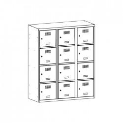 Szafka skrytkowa na książki MSUS 434S 120/145 (moduł 40)