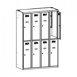 Szafa ubraniowa z półką na książki MSUS 342 120/180 (moduł 30)