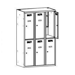Szafa ubraniowa z półką na książki MSUS 432 120/180 (moduł 40)