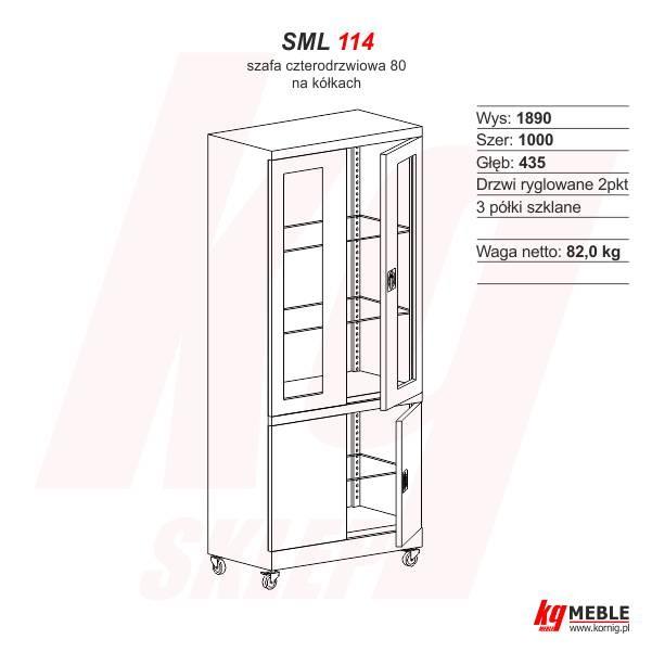Szafa SML-114 na kółkach