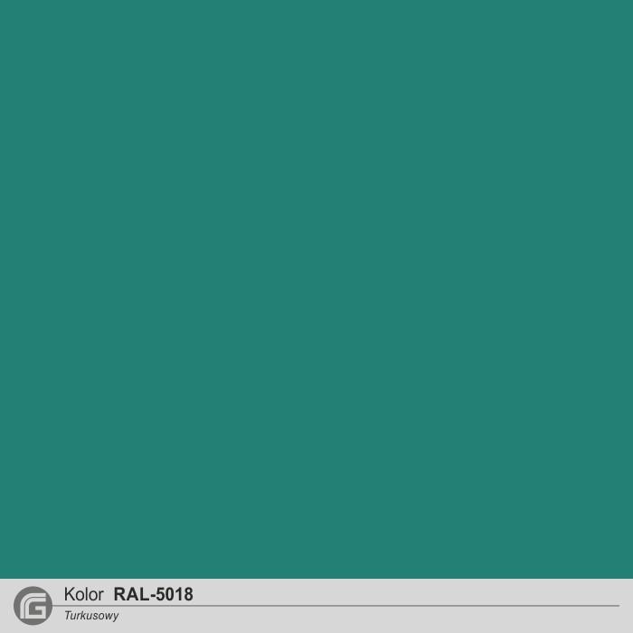 RAL 5018 turkusowy j.